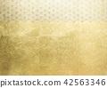 大麻葉箔金銀圖像(背景材料) 42563346