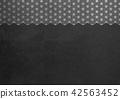大麻葉箔銀黑色圖像(背景材料) 42563452