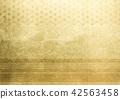 大麻葉線金箔圖像(背景材料) 42563458