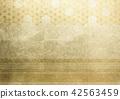 大麻葉線金箔圖像(背景材料) 42563459