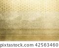 大麻葉線金箔圖像(背景材料) 42563460