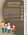 Doctor and cute family background poster portrait 42563545