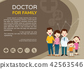 Doctor and cute family background poster landscape 42563546