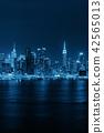 Midtown skyline over Hudson River 42565013