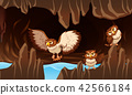 Owls living in the cave 42566184
