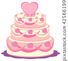 A wedding cake on white background 42566199