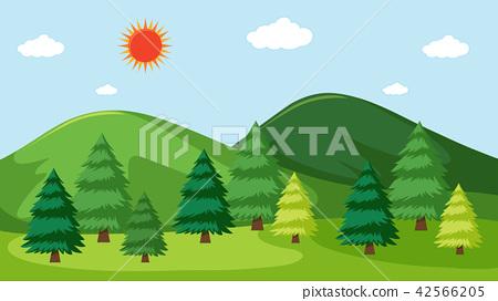 A beautiful nature landscape 42566205