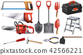 A set of construction tools 42566221