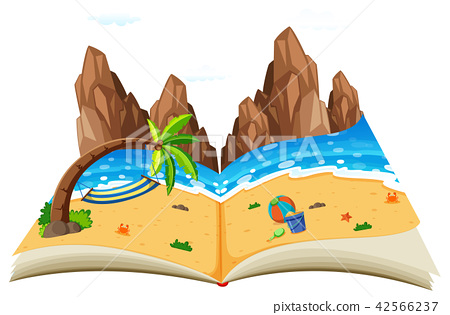 A pop up natural seascape book 42566237