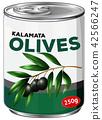 A tin of kalamata olives 42566247