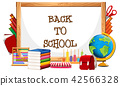 Whiteboard and back to school 42566328