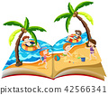 A pop up book with summer holiday 42566341