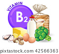A set of vitamin B2 food 42566363
