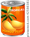A tin of mango plup 42566381