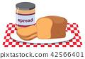 Bread and Peanut Butter Spread 42566401