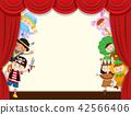 Children behide curtain school performance 42566406