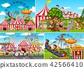 A set of carnival fun fair 42566410