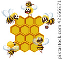 Happy bees and beehive 42566571