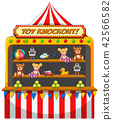 A funfair stall on white background 42566582