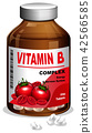 A bottle of Vitamin B tablets 42566585