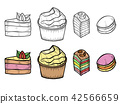 Desserts and sweets color 42566659