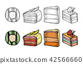 Desserts and sweets color 42566660