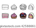 Desserts and sweets color 42566661