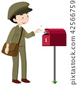 A postman delivery mail 42566759