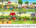playground, children, vector 42566774