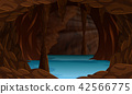 A beautiful cave landscape 42566775