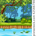 A beautiful jungle landscape 42566790