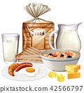 set, various, breakfast 42566797