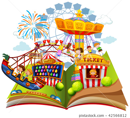 Fun carnival within pop up book 42566812