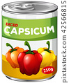 A tin of diced capsicum 42566815