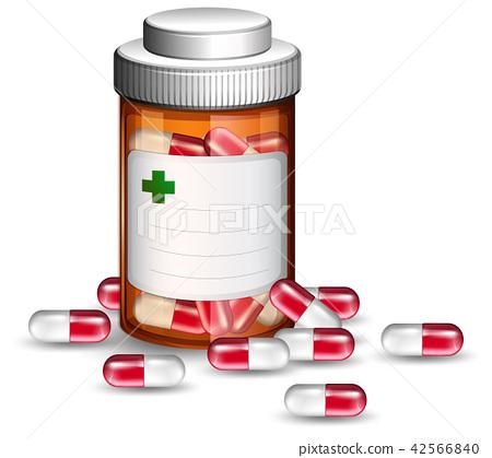 Container of medicine capsules 42566840
