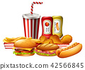 A set of unhealthy fast food 42566845