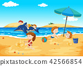 Children playing at the beach 42566854