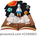 A pop up book space scene 42566883