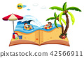 A pop up book with beach scene 42566911