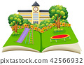 Scene of a school yard pop up book 42566932