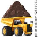 Dumper Truck on White Background 42566941