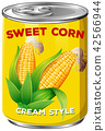 sweet, corn, cream 42566944
