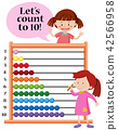 Lets count to 10 abacus concept 42566958