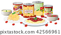 pasta soup vector 42566961