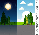 Day and night nature scene 42566974