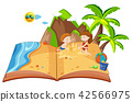 Children playing on an island pop up book 42566975