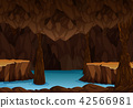 Underground cave with water 42566981