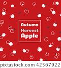 Autumn harvest apple vector illustration 42567922
