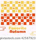 Autumn pattern background vector illustration 42567923
