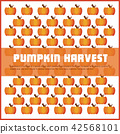 Pumpkin harvest background vector illustration 42568101